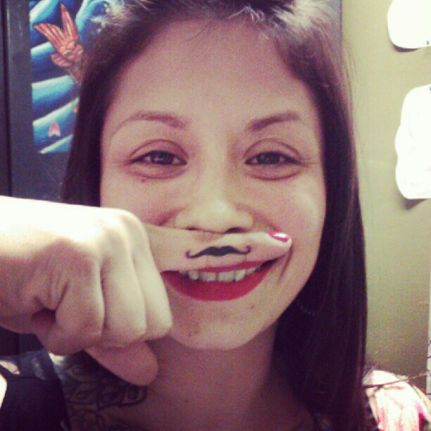 Mustash tattoo lol (Taken with instagram)