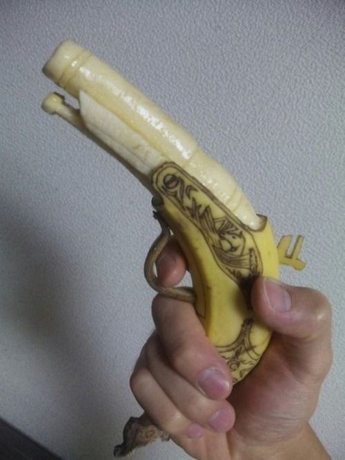 Hand-Carved .45 caliber Flintlock…… Banana.