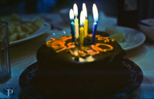 Birthday Cake! Shot on Ektar 100 and cross processed.