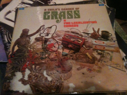 """A child's garden of grass"" record. Dope design on the cover."