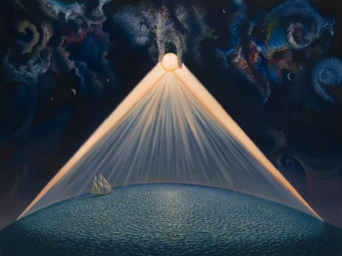 jordanlangston:  Vladimir Kush - Divine Geometry.