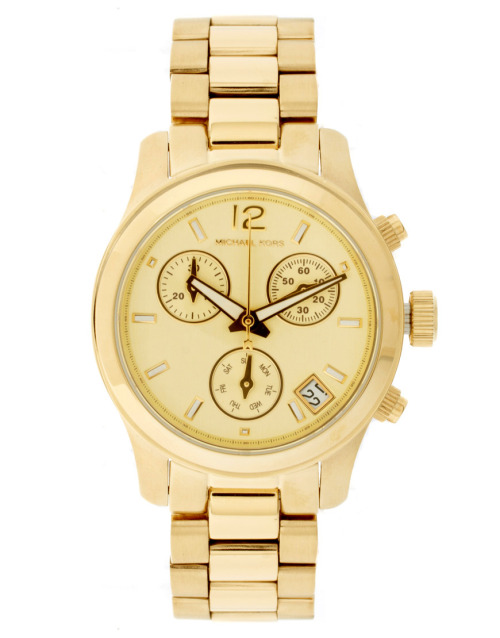 Michael Kors Gold Chronograph WatchMore photos & another fashion brands: bit.ly/JmDHfj