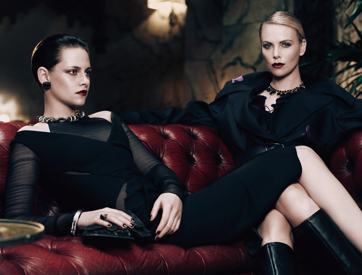 Kristen Stewart and Charlize Theron in Elle Magazine