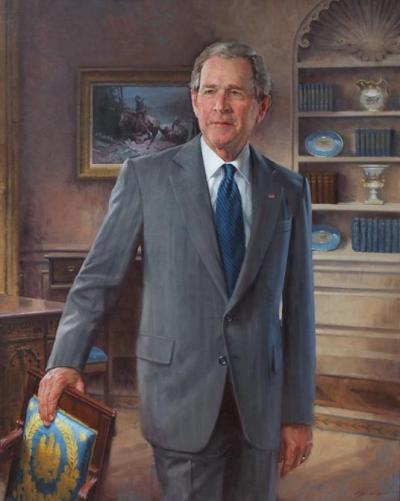 Say what you want about George W. Bush, but the artist did an incredible job with his official White House portrait that was unveiled today.