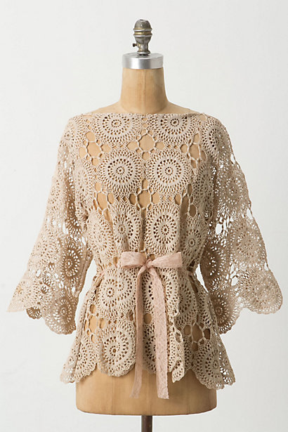 everelle:  [Scalloped Crochet Blouse by Anthropologie]