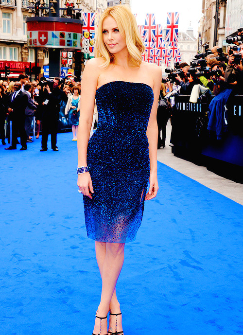 Charlize Theron at the world premiere of Prometheus in London
