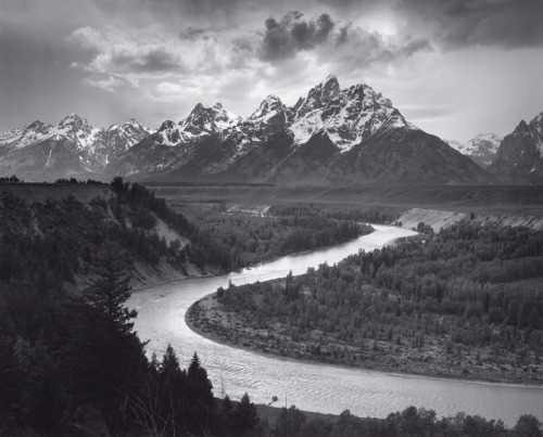 The Tetons and the Snake River, Grand Teton National Park, Wyoming, 1942 by Ansel Adams.