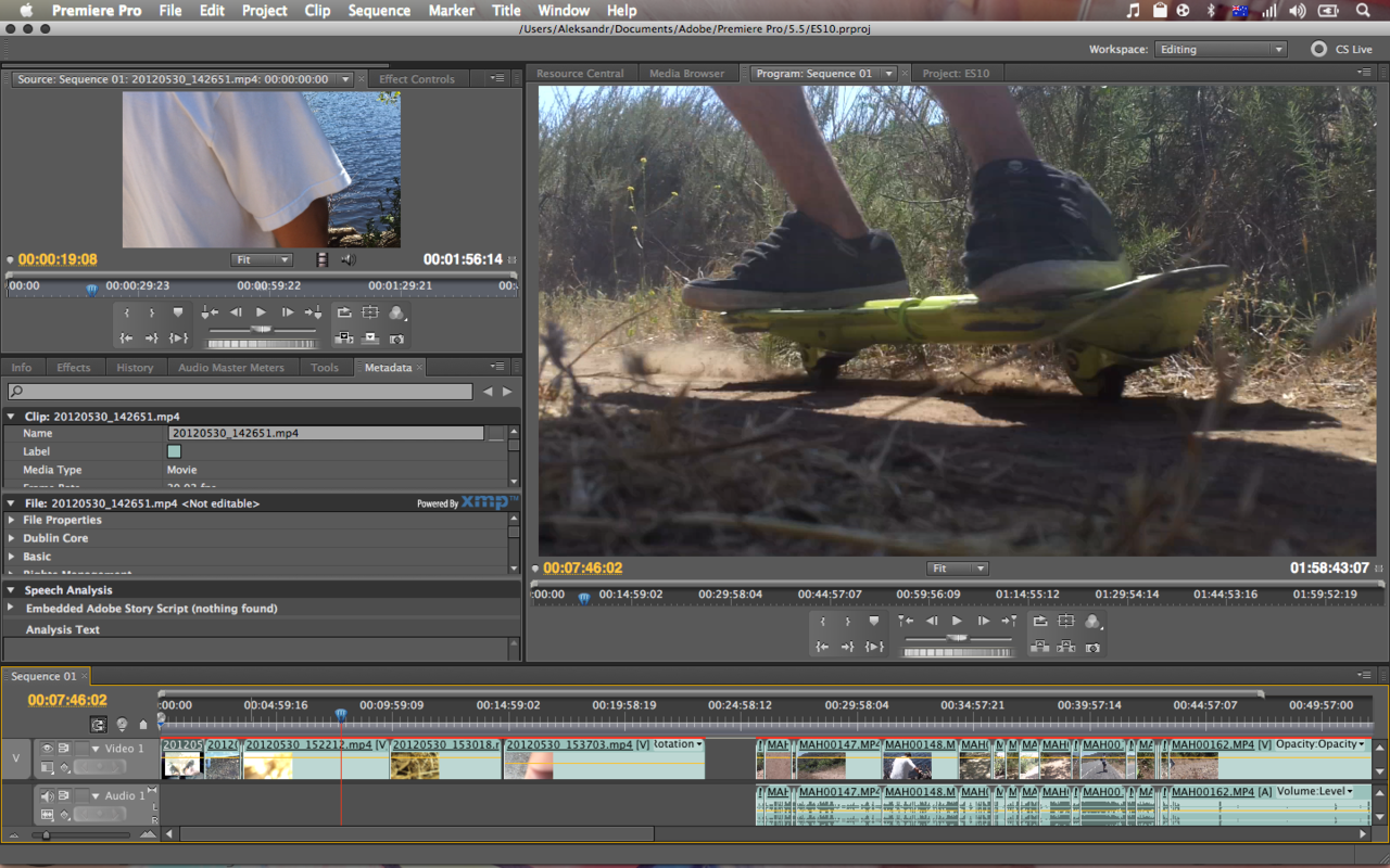 Time to edit EPIC SESH 10!  Trying out Premiere Pro finally, we may use it instead of Final Cut Pro from now on…