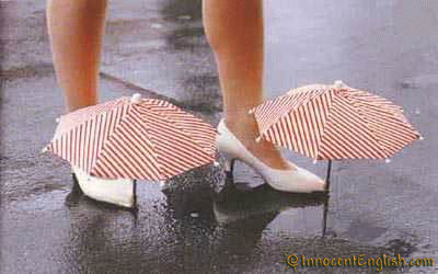 If only we can protect our fabulous shoes from the weather. Let's wish upon a star =)