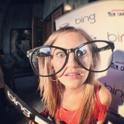 ijustine:  Hanging out at the #newbing party.. LOOKING REAL SEXY, YAH??!!! (Taken with instagram)  I think they're a little small, Justine…find some bigger ones haha ;) You seriously look adorable!! xxoo