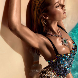 Crystal Embellished Bodysuit by Dolce & Gabbana