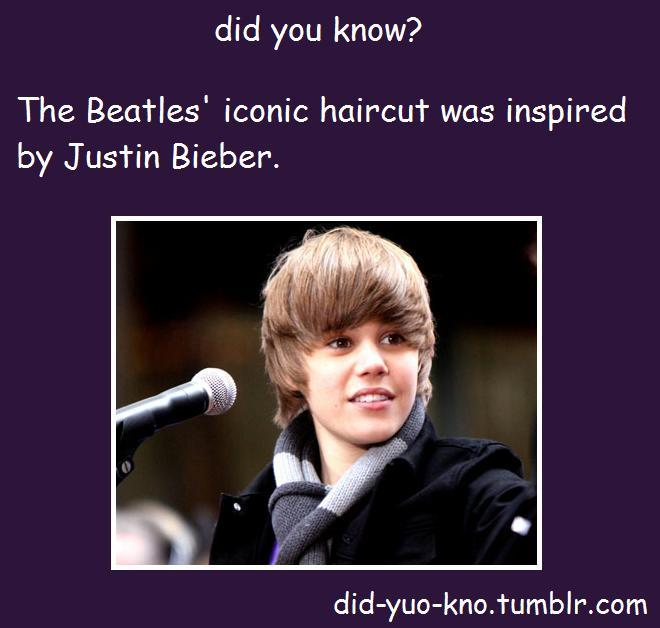 WHAT THE FUCK THE BEATLES CAME BEFORE BIEBER DID YOU STUPID FUCKING… OOOO… I'M GONNA QUIT TYPING BEFORE I PISS MYSELF OFF SOME MORE.