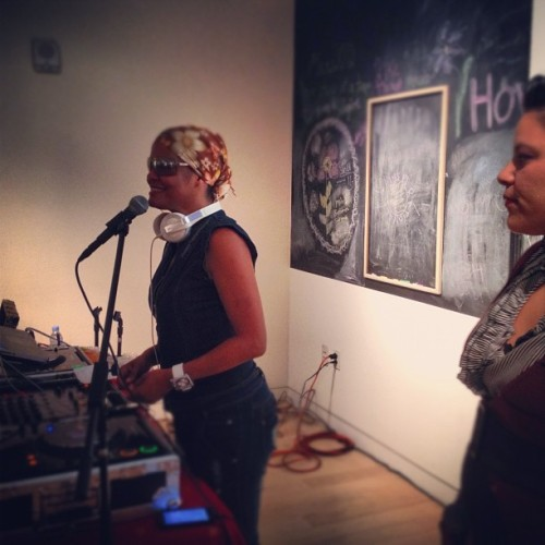 DJs and Artist…  Getting it in! (Taken with Instagram at Museum of the African Diaspora)