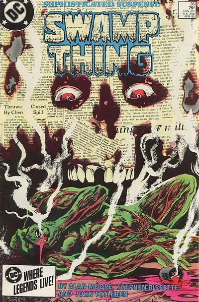 Saga of Swamp Thing #35, April 1985, written by Alan Moore, penciled by Stephen Bissette