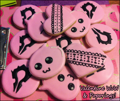 Pink cookies. Horde, lace and Ragnarok! :D