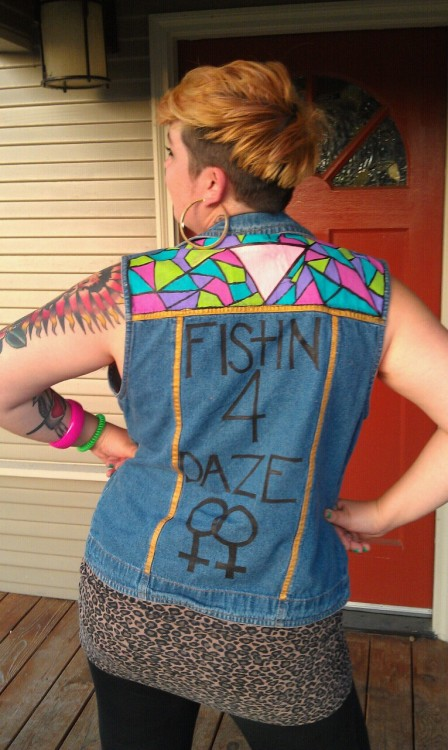 diabeticcelebrity:  melodyawesomazing:  Vest by Natalie Torres model Mads!  This beautiful angel baby queen is in Austin for Queer Bomb! Look for her and give her all the makeouts for me!