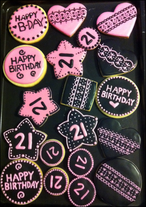 Birthday Cookies for my BFF Amber. <3