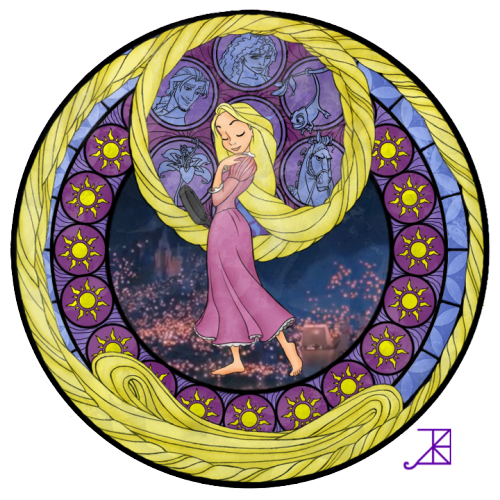 becausesometimesdreamsdocometrue:  Rapunzel's Window a la Kingdom Hearts by Akili-Amethyst.