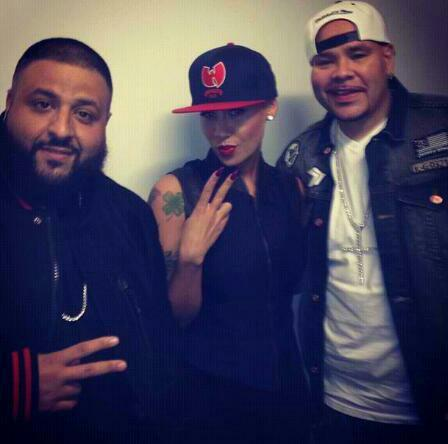 Amber Rose with DJ Khaled & Fat Joe    Instagram @muvarosebud