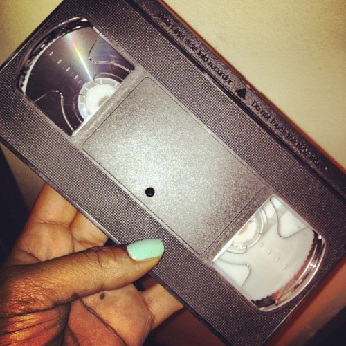 """dont through them away i havent burnt um yet who still got a VCR"" (Taken with instagram)"