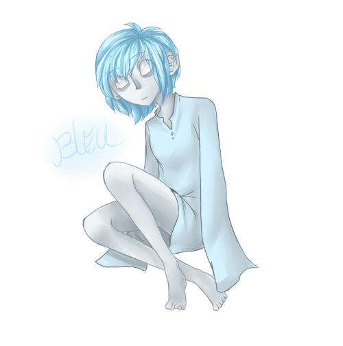 oops i fanarted, this is for bitterflips and her character Bleu, whose design i really really like/ sorry if i drew stuff that wasn't cannon, i only had a few references, I'll draw another if i see there's too much difference yup. can't wait for Bleu World! it looks like its gonna be really good!