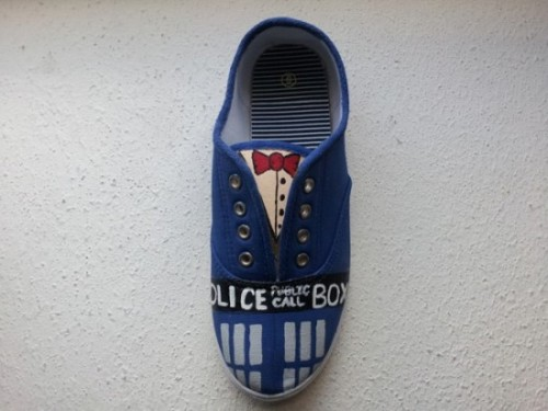 Doctor Who custom painted sneakers