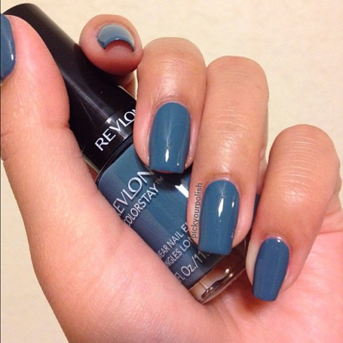 Blue Slate by Revlon Colorstay (Taken with instagram)