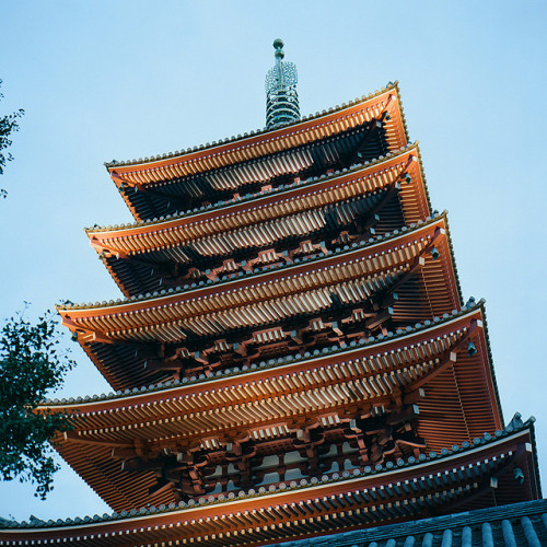 ileftmyheartintokyo:  The pagoda of Sensō-ji by gok_h on Flickr.