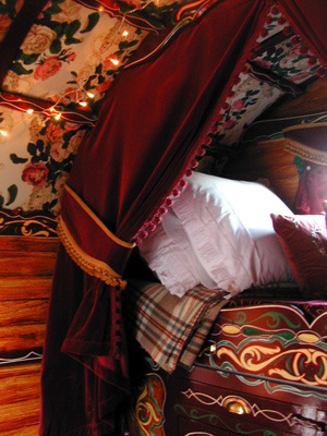 My Bohemian Home ~ Bedrooms and Guest Rooms  Romany carved bed, detail