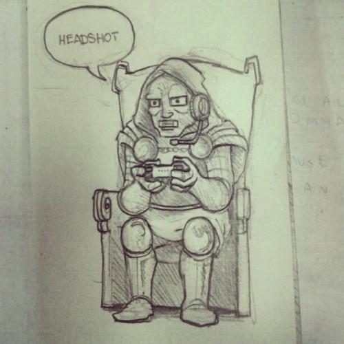Doctor Doom Beasting on video games. Check out my latest sketches on Instagram: DOOMCMYK