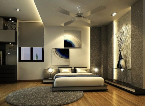 homedesigning:  Modern, Colorful Bedrooms