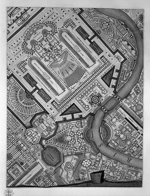 ideal-city:  :: Ichnographia of the Campo Marzio_Giovanni Battista Piranesi_1762