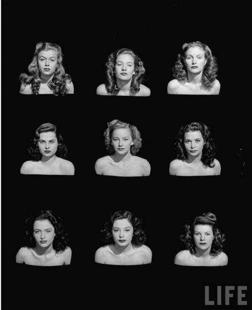 forties-fifties-sixties-love:  Hopeful Hollywood Starlets 1946