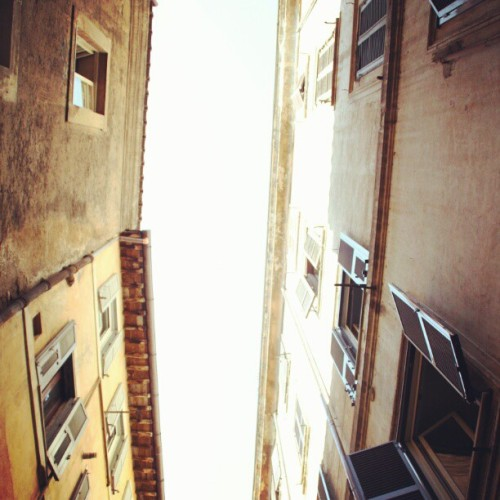 #sky #old #buildings #windows #rome #italy  (Taken with instagram)