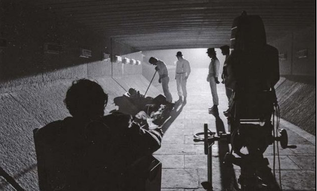 On the set of A Clockwork Orange.