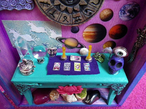 Psychic Astrologer Diorama Shadowbox by lotusfairy on Etsy on We Heart It. http://weheartit.com/entry/29662612