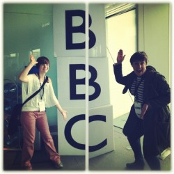Lesley and Amys day out at The Beeb!! (Taken with instagram)