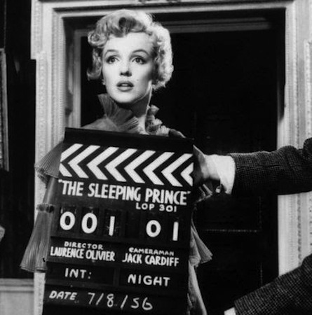 Marilyn filming The Prince and The Showgirl (1957)