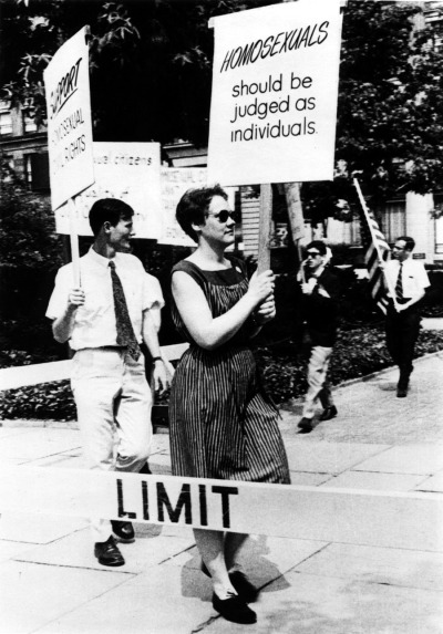 Barbara Gittings & Randy Wicker, pioneers of the modern gay liberation movement