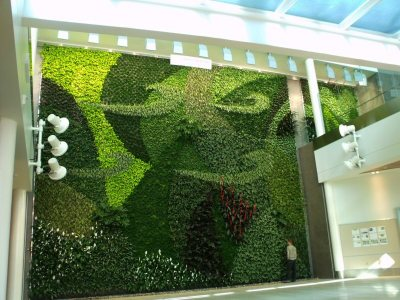 Edmonton Airport Living Wall by Green over Grey