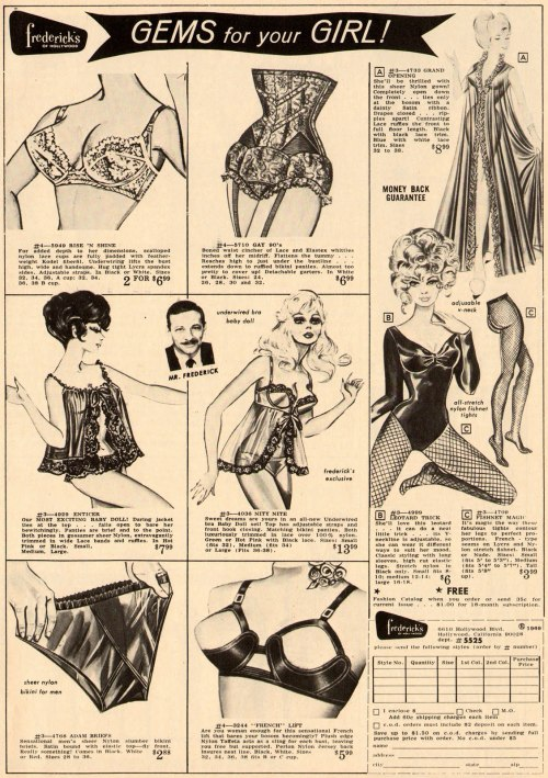 I loooove vintage Frederick's catalogs. levampire:  I want everything…