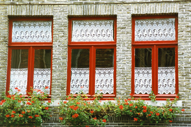 | ♕ |  Flemish windows - Bruges  | by © Patrick