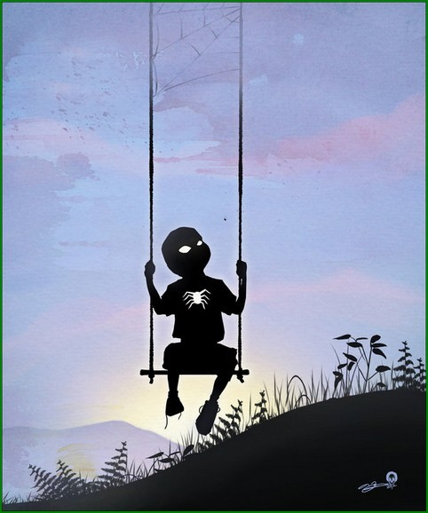 "This ""Kids are Superheroes"" Set by illustrator Andy Fairhurst is brilliant. A clever study into kids dressing up and playing as their favourite Superhero characters."