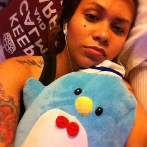 Seepy time with my cuddle buddy Nuh night 💤 #loner #sexcyanip13 #seepy #lesbian #lesbians #dyke #stemme #cuddle #night #summer (Taken with instagram)