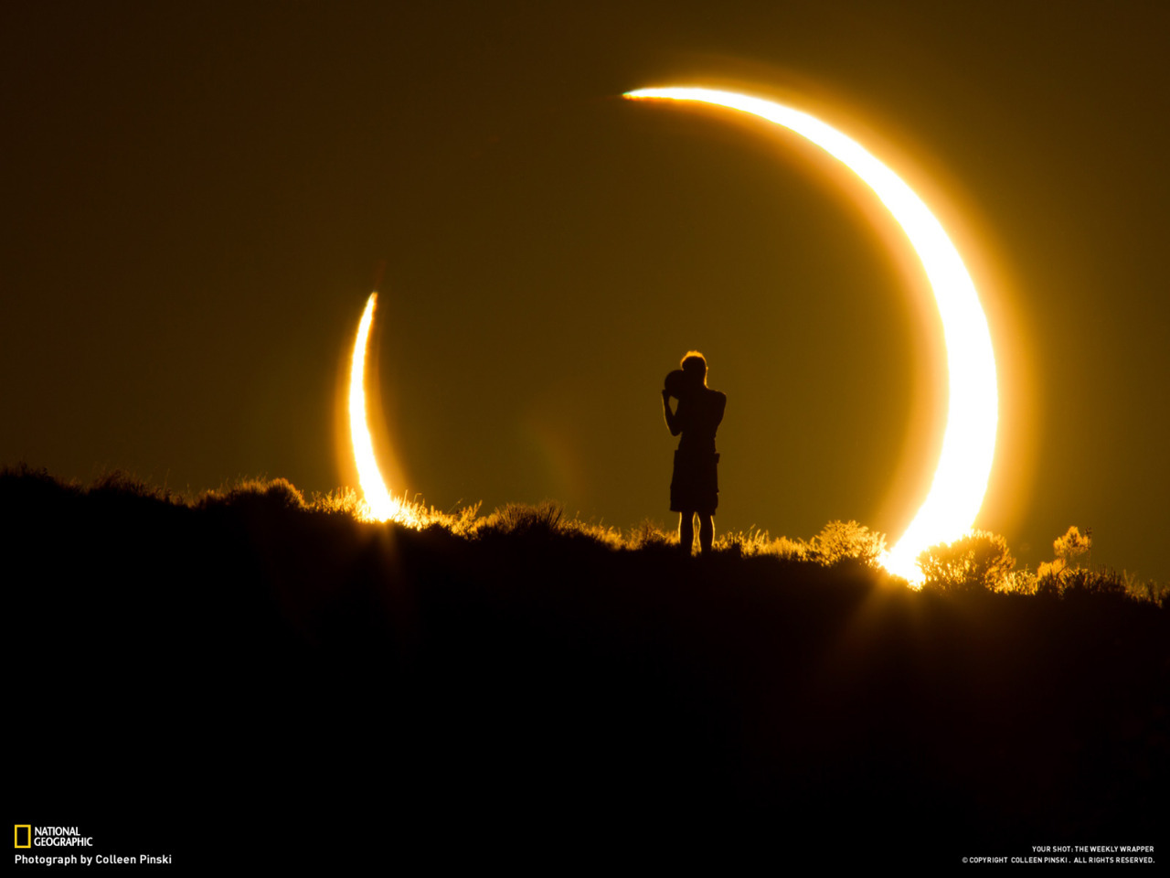 Amazing photo of the recent eclipse by Colleen Pinski of National Geographic.