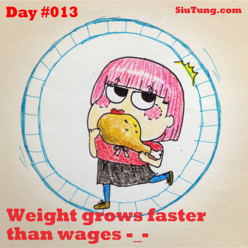 "Click ""like"" if you agree your weight is growing faster than your wages!"