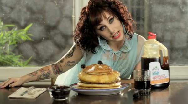 "Behind The Scenes Of Kreashawn's ""Breakfast"" Video ""Breakfast"" is the first single off of Kreayshawn's debut album, Somethin 'Bout Kreay, which is set to come out on August 14. The song features 2 Chainz and is the perfect opportunity for both rappers to get poetic about breakfast foods, AND money, which is fun to listen to, and even more fun to watch.  The special, EXCLUSIVE, behind the scenes video of the making of ""Breakfast"" is here."