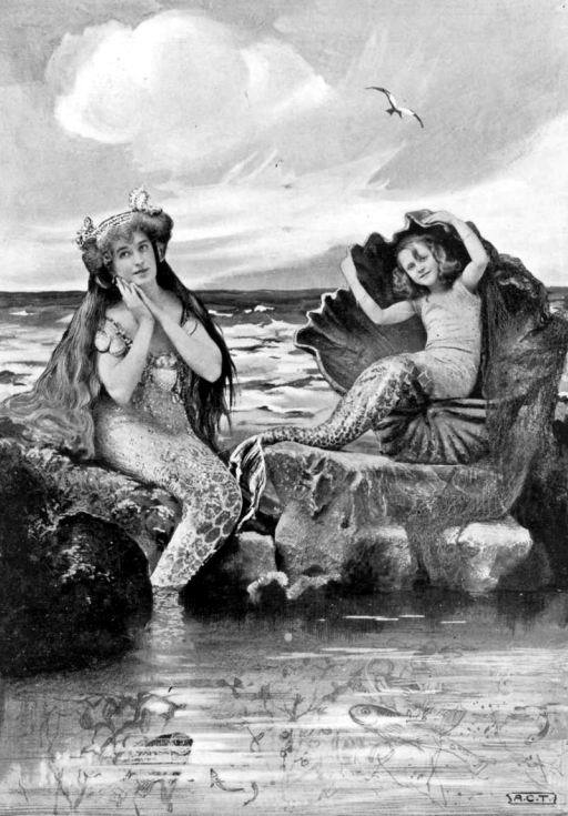 Rosamund Buryn and Geraldine Wilson in a 1905's Peter Pan play