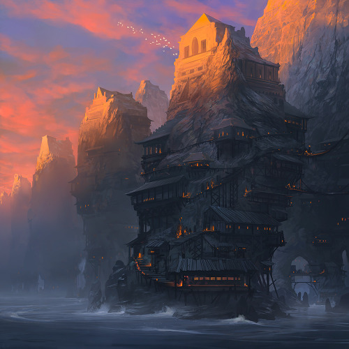 "illustratosphere:  As Darkness Rises by noahbradley ""Copyright 2011 Wizards of the Coast"""