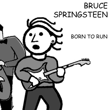 Born To Run by Bruce Springsteen. Original.